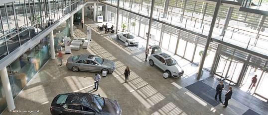 Eingangshalle Audi in Ingolstadt