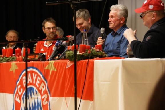 Pressekonferenz mit Erwin, Kim, Jupp und Uli nah