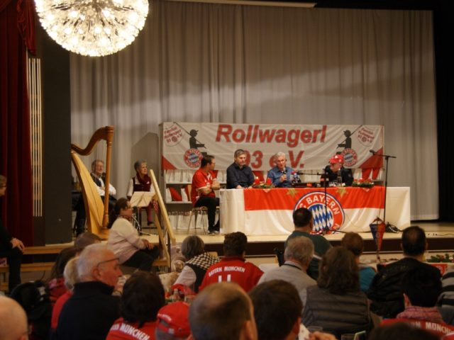 Pressekonferenz mit Erwin, Kim, Jupp und Uli