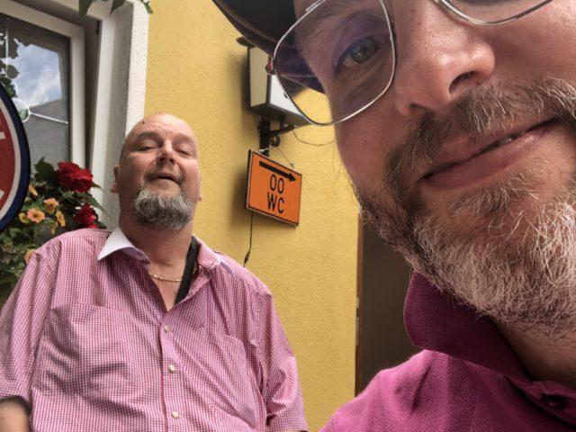 Kim Krämer und Andreas Ruhl in guter Stimmung beim Sommerfest