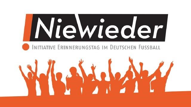 Schrift Nie wieder Initiative Erinnerungstag im deutschen Fußball