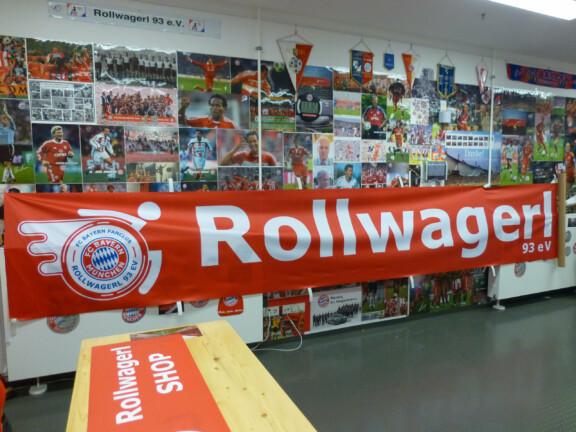 Banner mit Logo und Schriftzug Rollwagerl 93 eV